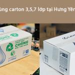 Nhận đặt thùng carton 3 lớp giá rẻ tại Hưng Yên